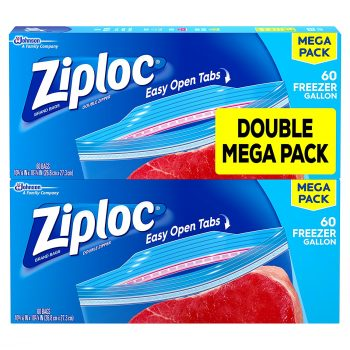 Ziploc Freezer Bags, Gallon, 120 Count