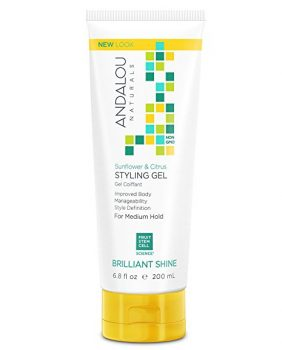 Andalou Naturals Sunflower & Citrus Brilliant Shine Styling Gel, 6.8 Ounce Deal