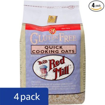 Bob's Red Mill Gluten Free Quick Cooking Rolled Oats, 32-ounce (Pack of 4) Deal