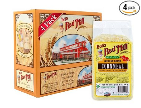 Bob's Red Mill Organic Medium Grind Cornmeal, 24-ounce (Pack of 4) Deal