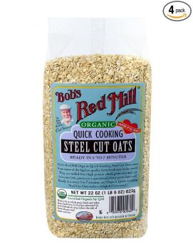 Bob's Red Mill Organic Quick Cooking Steel Cut Oats, 22-ounce (Pack of 4) Deal