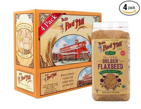 Bob's Red Mill Organic Raw Whole Golden Flaxseed, 24-ounce (Pack of 4) Deal