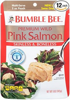 Bumble Bee Premium Skinless & Boneless Wild Pink Salmon, 5oz Pouch (Pack of 12) Deal