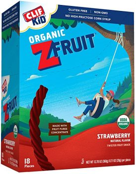 CLIF KID ZFRUIT - Organic Fruit Snack - Strawberry - (0.7 Ounce Rope, 18 Count) Deal