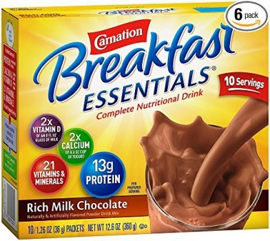 Carnation Breakfast Essentials Powder Drink Mix, Rich Milk Chocolate, 1.26 oz, 10 Count Envelopes (Pack of 6) Deal