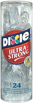 Dixie Ultrastrong Plastic Cutlery Combo, 24 Count Deal
