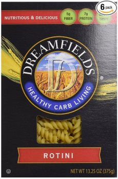 Dreamfields Pasta Healthy Carb Living, Rotini, 13.25-Ounce Boxes (Pack of 6) Deal