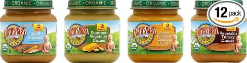 Earth's Best Organic Stage 2, Delicious Din Din Variety Pack, 12 Count, 4 Ounce Jars Deal