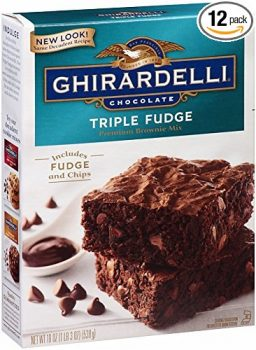 Ghirardelli Chocolate Triple Fudge Brownie Mix, 19-Ounce Boxes (Pack of 12) Deal