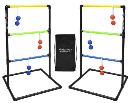 GoSports Indoor : Outdoor Ladder Toss Game Set with 6 Rubber Bolos, Carrying Case and Score Trackers Deal