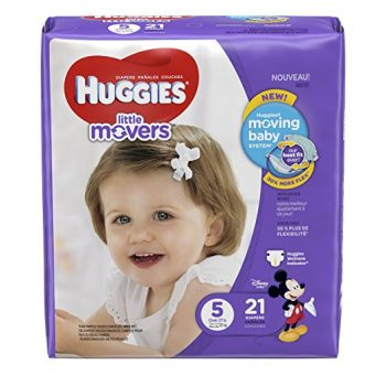 HUGGIES Little Movers Diapers, Size 5, 21 Count Deal