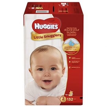 HUGGIES Little Snugglers Baby Diapers, Size 2, 132 Count Deal