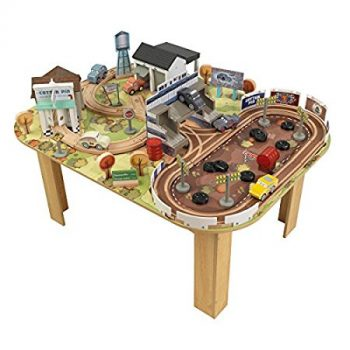 KIDKRAFT Disney Pixar Cars 3 Thomasville 70 Piece Wooden Track Set with Accessories and Table Deal