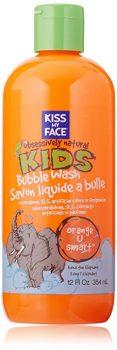 Kiss My Face Natural Kids Orange U Smart Bubble Wash, Bubble Bath and Body Wash, 12 Ounce Bottle Deal