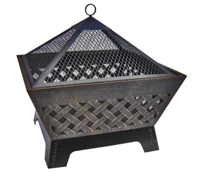 Landmann 25282 Barrone Fire Pit with Cover, 26-Inch, Antique Bronze Deal