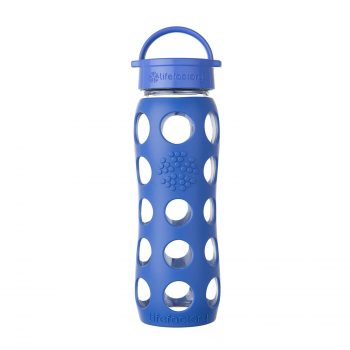 Lifefactory 22-Ounce BPA-Free Glass Water Bottle with Leakproof Classic Cap and Silicone Sleeve Deal