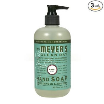Mrs. Meyer's Liquid Hand Soap, Basil, 12.5 Fluid Ounce (Pack of 3) Deal