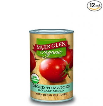 Muir Glen Organic Diced Tomatoes, No Salt, 14.5-Ounce Cans (Pack of 12) Deal