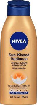 NIVEA Sun-Kissed Radiance Fair to Medium Skin Gradual Tanner & Body Lotion 13.5 Fluid Ounce Deal