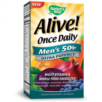 Nature's Way Alive Once Daily Men's 50+ Ultra Potency Tablets, 60 Deal