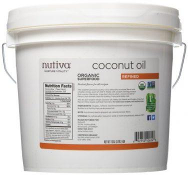 Nutiva Organic Coconut Oil, Refined, 1 Gallon Deal
