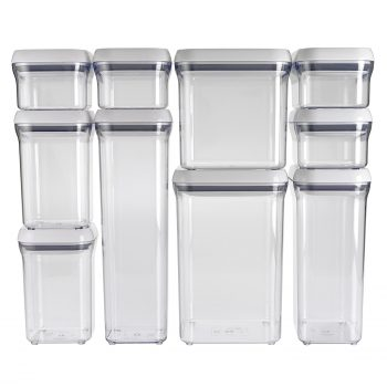 OXO Good Grips 10-Piece Airtight Food Storage POP Container Value Set Deal
