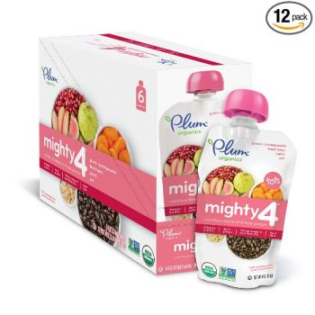 Plum Organics Mighty 4, Organic Toddler Food, Guava, Pomegranate, Black Bean, Carrot and Oat, 4.0 ounce (Pack of 12) Deal