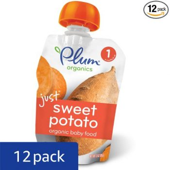 Plum Organics Stage 1, Organic Baby Food, Just Sweet Potato, 3.0 ounce pouch (Pack of 12) Deal