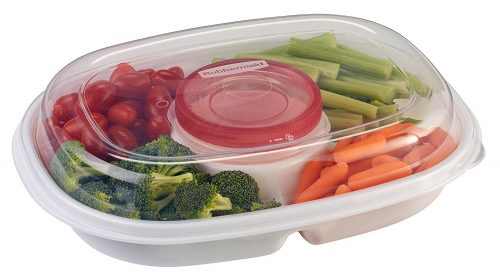 Rubbermaid Party Platter Party Tray, Clear Deal