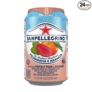 Sanpellegrino Prickly Pear and Orange Sparkling Fruit Beverage, 11.15 fl oz. Cans (24 Count) Deal