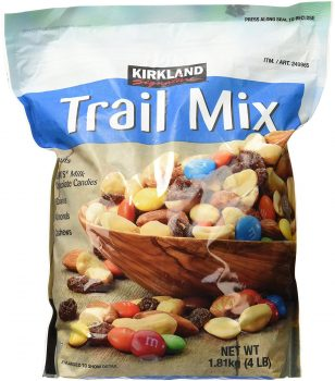Signature Trail Mix, Peanuts, M and M Candies, Raisins, Almonds and Cashews, 4 Pound Deal