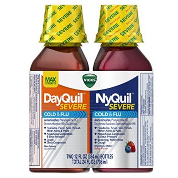 Vicks NyQuil and DayQuil SEVERE Cough Cold and Flu Relief Liquid, 12 Fl Oz, pack of 2 Deal
