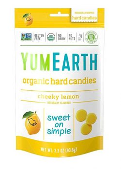 YumEarth Organic Natural Cheeky Lemon Drops, 3.3 Ounce Pouches (Pack of 6) Deal