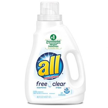 all Liquid Laundry Detergent, Free Clear for Sensitive Skin, 46.5 Fluid Ounces, 2 Count, 62 Total Loads Deal