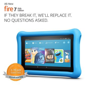 All-New Fire 7 Kids Edition Tablet, 7 Display, 16 GB, Blue Kid-Proof Case Deal