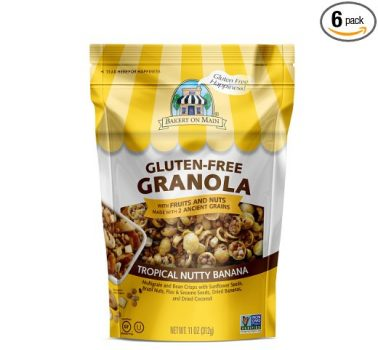 Bakery On Main Gluten-Free, Non GMO Granola, Tropical Nutty Banana, 11 Ounce (Pack of 6) Deal