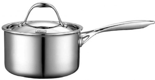 Cooks Standard Multi-Ply Clad Stainless-Steel 1-1:2-Quart Covered Sauce Pan Deal