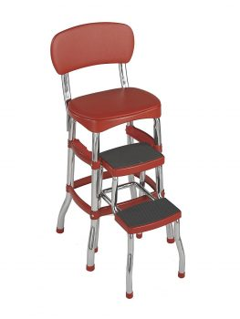 Cosco Retro Counter Chair:Step Stool, Red Deal