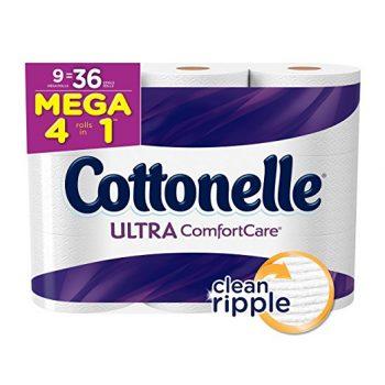 Cottonelle Ultra Comfort Care Toilet Paper, Bath Tissue, 9 Mega Toilet Paper Rolls