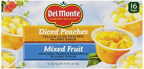 Del Monte Mixed Fruit:Peaches Snack Cup, 16 cups Deal