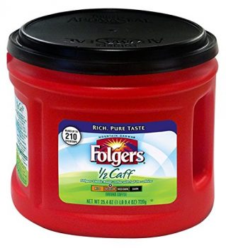 Folgers Half-Caff Ground Coffee, Medium Roast, 25.4 Ounce Deal