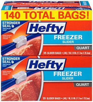 Hefty Slider Freezer Bags (Quart, 140 Count) Deal
