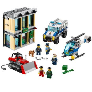 LEGO City Police Bulldozer Break-In 60140 Building Kit Deal