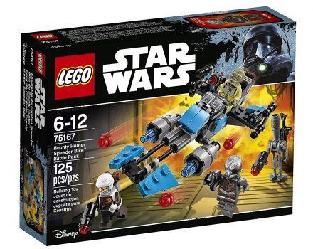 LEGO Star Wars Bounty Hunter Speeder Bike Battle Pack 75167 Building Kit Deal