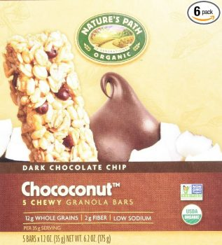 Nature's Path Organic Chewy Granola Bars, Dark Chocolate Chip, Chococonut, 6.2 Ounce Box (Pack of 6) Deal