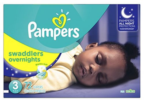 Pampers Swaddlers Overnights Disposable Diapers Size 3, 72 Count Deal