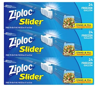 Ziploc Gallon Slider Freezer Bags, 72 Count Deal